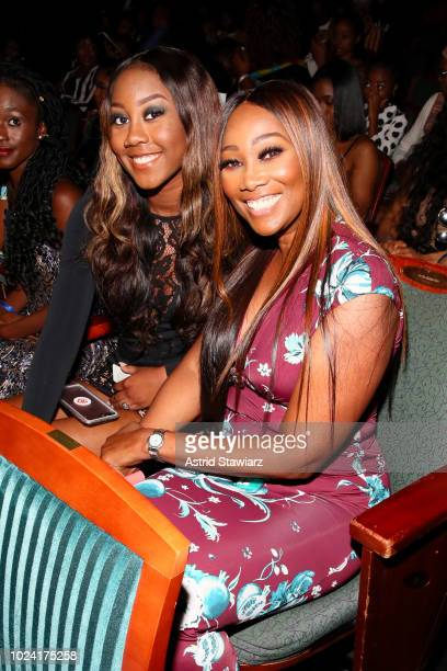 Taylor Ayanna Crawford and Yolanda Adams during the Black Girls Rock 2018 Show at NJPAC on August 26 2018 in Newark New Jersey