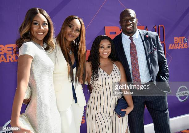Taylor Ayanna Crawford Yolanda Adams a guest and Titus Oneil attend the 2018 BET Awards at Microsoft Theater on June 24 2018 in Los Angeles California