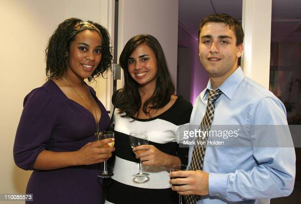 Taylor Barner Katie Hale and Kyle Lazarus attend the New York Chapter of NARAS Open House Reception at New York Chapter Office on September 23 2008...