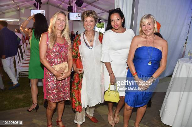 Taylor Barton Edwina von Gal Rolise Rachel and Robin Leacock attend the Guild Hall Summer Gala 2018 at Guild Hall on August 10 2018 in East Hampton...