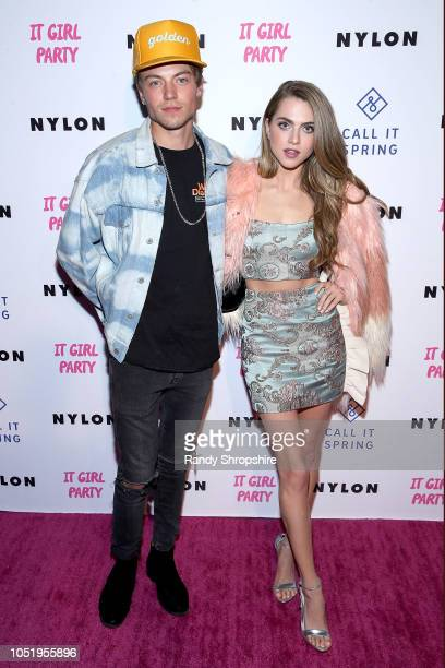 Taylor Beau and Anne Winters attend NYLON's annual It Girl Party sponsored by Call It Spring at Ace Hotel on October 11 2018 in Los Angeles California