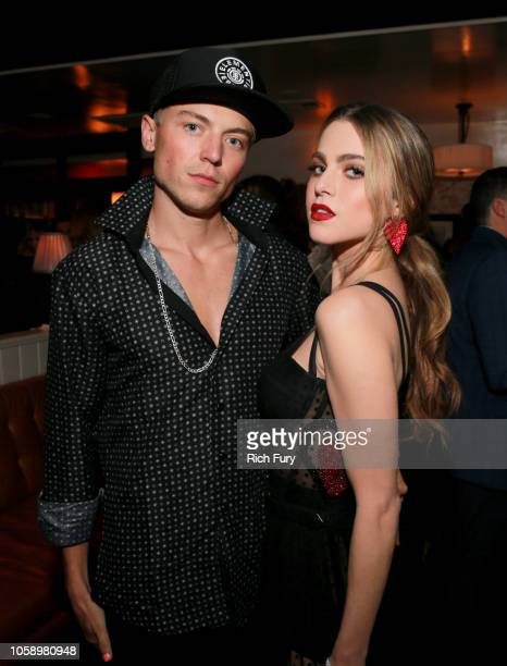 Taylor Beau and Anne Winters attend The Hollywood Reporter's Next Gen 2018 Celebration at 40 LOVE on November 7 2018 in Los Angeles California