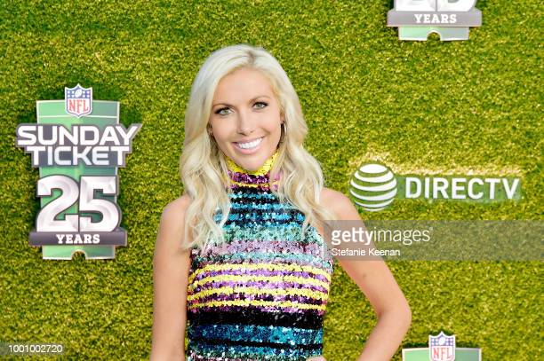 Taylor Bisciotti attends DIRECTV CELEBRATES 25th Season of NFL SUNDAY TICKET at Nomad Hotel Los Angeles on July 17 2018 in Los Angeles California