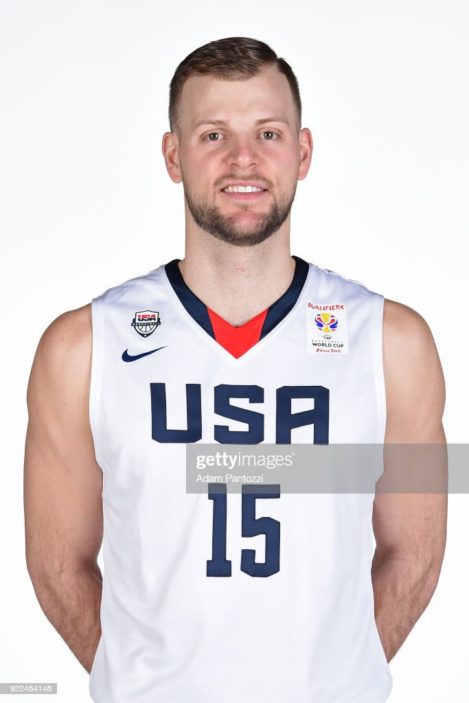 Taylor Braun #15 of Team USA poses for a head shot on February 20, 2018 at the LA Clippers Training Center in Playa Vista, California.