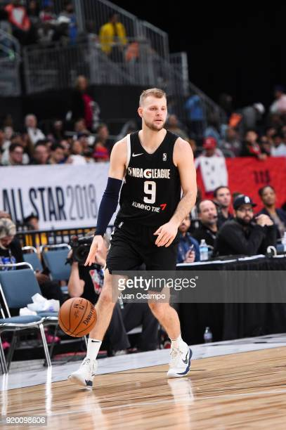 Taylor Braun of the USA Team handles the ball against the Mexico National Team during the 2018 NBA G League International Challenge presented by...