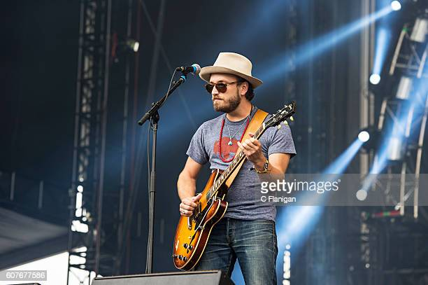 Taylor Burns of The Wild Feathers performs on the Sunset Cliffs Stage during the 2016 KAABOO Del Mar at the Del Mar Fairgrounds on September 18 2016...