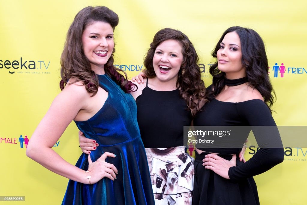 Taylor C. Baker, Brianna McClellan and Chelsea Alana Rivera attend the 'Female Friendly' Screening at The Three Clubs Hollywood Launching Now on April 30, 2018 in Los Angeles, California.