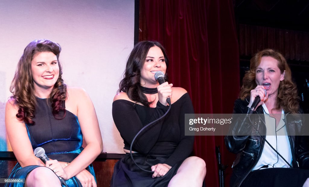 Taylor C. Baker, Chelsea Alana Rivera and Frankie Ingrassia attend a panel discussion of the 'Female Friendly' Screening at The Three Clubs Hollywood Launching Now on April 30, 2018 in Los Angeles, California.