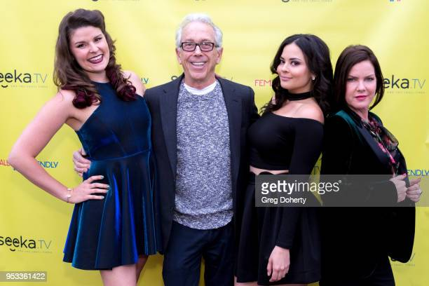 Taylor C Baker Doug Leighton Chelsea Alana Rivera and Kira Reed Lorsch attend the 'Female Friendly' Screening at The Three Clubs Hollywood Launching...