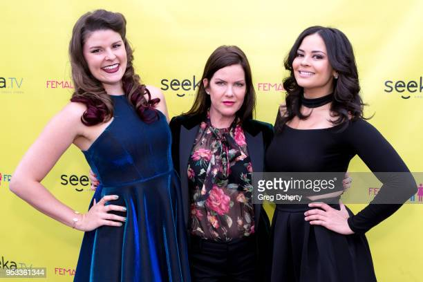 Taylor C Baker Kira Reed Lorsch and Chelsea Alana Rivera attend the 'Female Friendly' Screening at The Three Clubs Hollywood Launching Now on April...