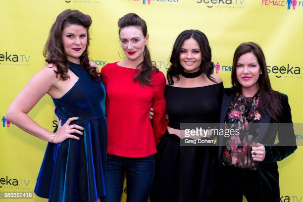 Taylor C Baker Natalie Mitchell Chelsea Alana Rivera and Kira Reed Lorsch attend the 'Female Friendly' Screening at The Three Clubs Hollywood...