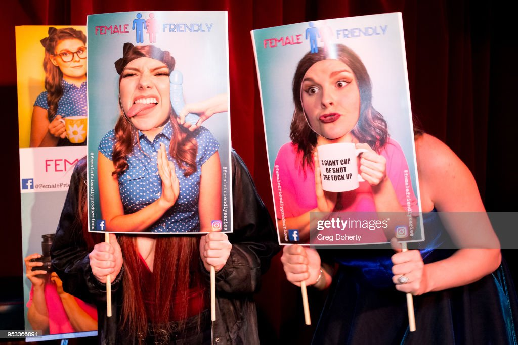 Taylor C. Baker (R) poses for portraits following the 'Female Friendly' Screening at The Three Clubs Hollywood Launching Now on April 30, 2018 in Los Angeles, California.