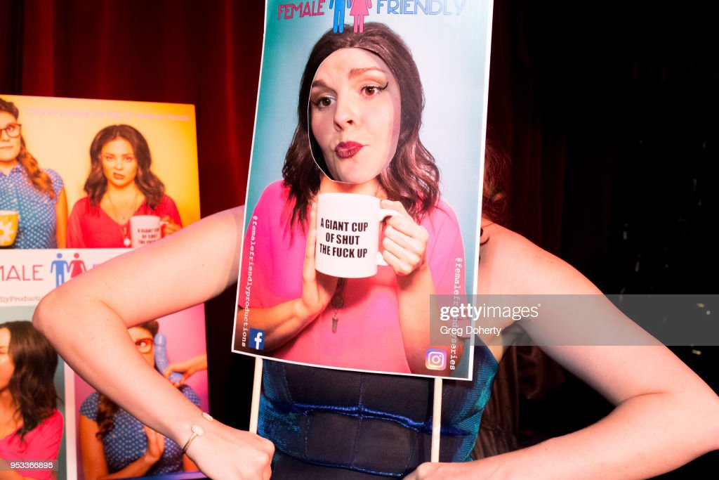 Taylor C. Baker (L) poses for portraits following the 'Female Friendly' Screening at The Three Clubs Hollywood Launching Now on April 30, 2018 in Los Angeles, California.