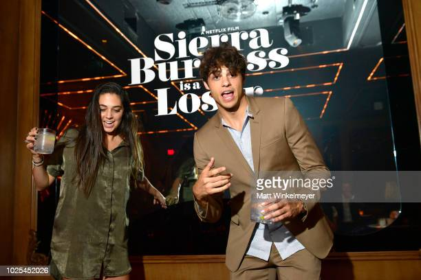 Taylor Centineo and Noah Centineo at the afterparty for the Los Angeles premiere of the Netflix Film Sierra Burgess is a Loser at Avenue on August 30...