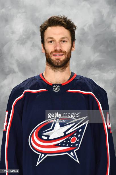 Taylor Chorney of the Columbus Blue Jackets poses for his headshot prior to a game against the Washington Capitals on February 26 2018 at Nationwide...