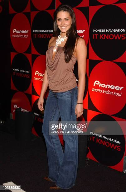 Taylor Cole during Pioneer Electronics Automotive Navigation Systems Launch Party Arrivals at Montmartre Lounge in Hollywood California United States