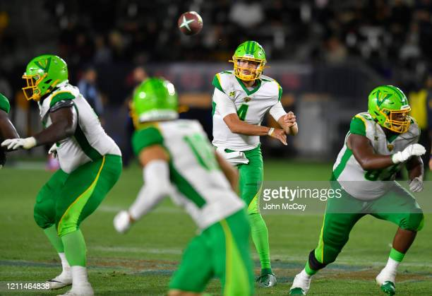Taylor Cornelius of the Tampa Bay Vipers throws a pass while playing the LA Wildcats at Dignity Health Sports Park during an XFL game on March 8 2020...