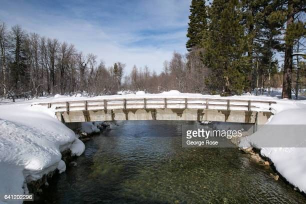 Taylor Creek a main tributary into Lake Tahoe ocated near Camp Richardson flows at a high rate on January 30 in South Lake Tahoe California The...