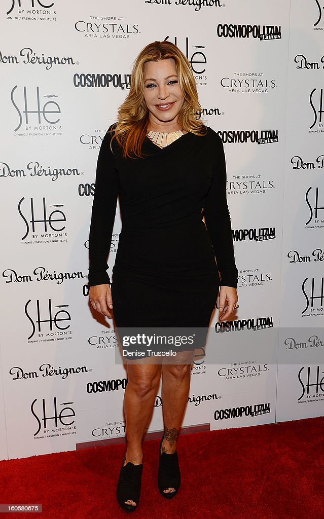 Taylor Dayne arrives at the grand opening of SHe by Morton's at Crystals at CityCenter on February 2, 2013 in Las Vegas, Nevada.