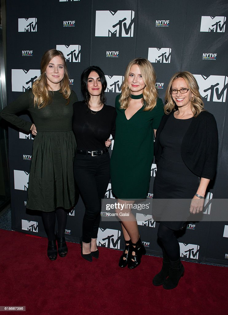 Taylor Dearden, Jennifer Robinson, Eliza Bennett and Amanda Lasher attends 'The Struggle Is Real: Gender, Race, Entrepreneurship And The Women Of MTV' during the 12th Annual New York Television Festival at SVA Theater on October 27, 2016 in New York City.