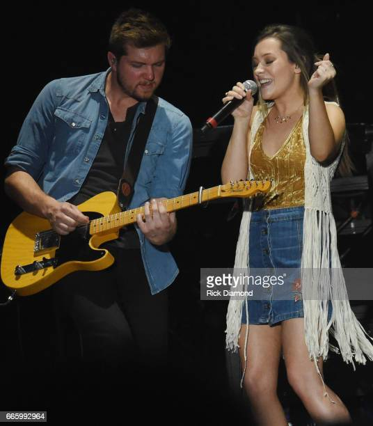 Taylor Dye of Maddie Tae perform during Day 2 Country Thunder Music Festival Arizona on April 7 2017 in Florence Arizona