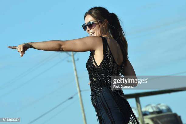 Taylor Dye of Maddie Tae performs during Country Thunder Day 4 on July 23 2017 in Twin Lakes Wisconsin