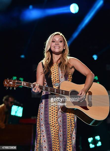 Taylor Dye of Maddie Tae performs onstage during the 2015 CMA Festival on June 12 2015 in Nashville Tennessee