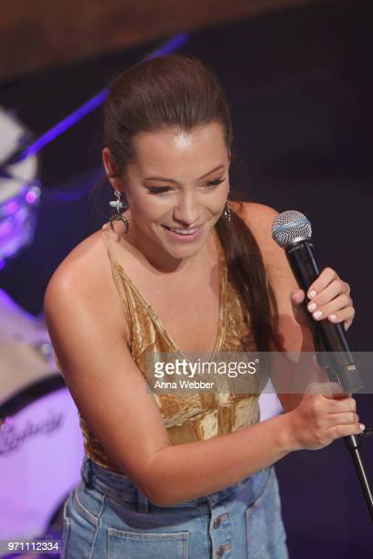 Taylor Dye of Maddie Tae performs onstage in the HGTV Lodge at CMA Music Fest on June 10 2018 in Nashville Tennessee