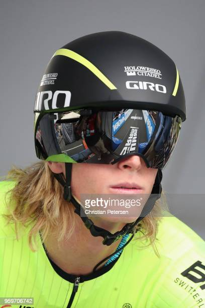 Taylor Eisenhart of the United States riding for Team HoloweskoCitadel p/b Arapahoe Resources prepares to start during stage four of the 13th Amgen...