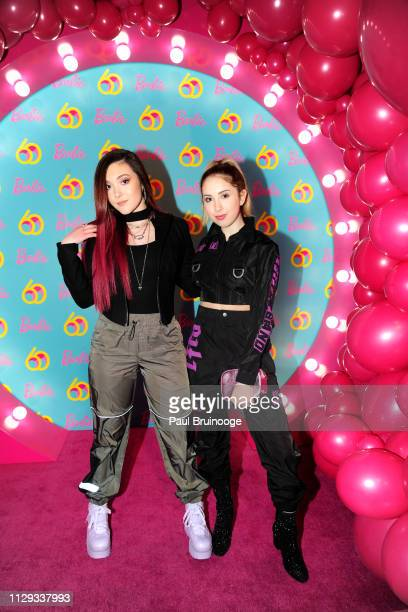 Taylor Felt and Carrie Berk attend Barbie's 60th Anniversary at 505 Broadway on March 8 2019 in New York City