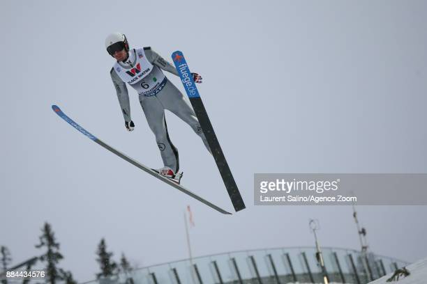 Taylor Fletcher of USA competes during the FIS Nordic World Cup Men's and Women's Nordic Combined HS100/Team on December 2 2017 in Lillehammer Norway