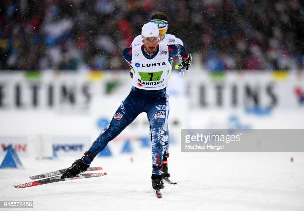 Taylor Fletcher of USA competes in the Men's and Women's Cross Country Team Sprint qualification race during the FIS Nordic World Ski Championships...