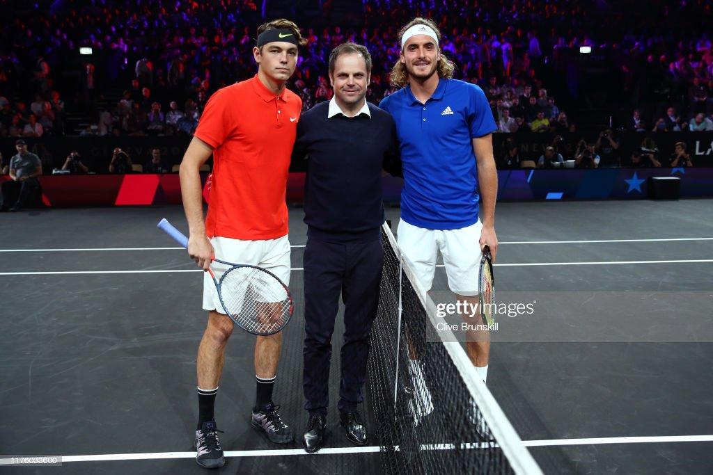 Taylor Fritz Of Team World Severin Luthi Trainer Of Roger Federer News Photo Getty Images