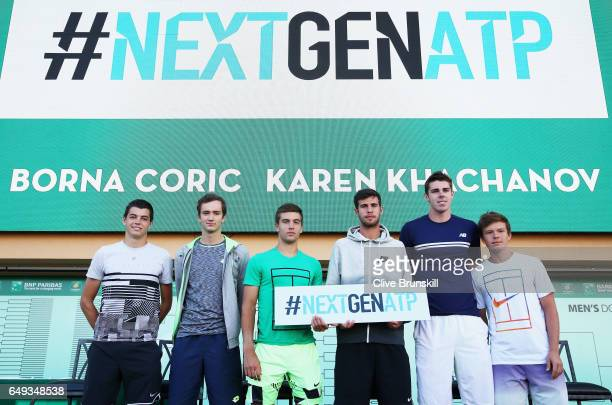 Taylor Fritz of the United StatesDaniil Medvedev of RussiaBorna Coric of CroatiaKaren Khachanov of RussiaReilly Opeelka of the United States and...