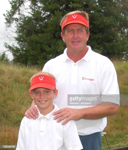 Taylor Funk and Fred Funk during Entertainmamt Golf Association's 4th Annual Celebrity Golf Tournament at Minisceongo Golf Club in Pomona, New York,...