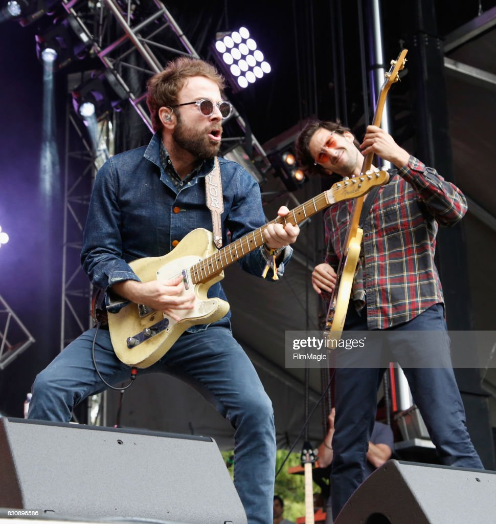 Taylor Goldsmith (L) and Wylie Gelber of Dawes perform on the Sutro Stage during the 2017 Outside Lands Music And Arts Festival at Golden Gate Park on August 12, 2017 in San Francisco, California.