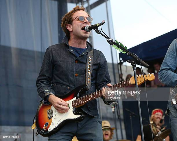 Taylor Goldsmith of Dawes using Bob Dylan's 1964 Fender Stratocaster from his Newport 1965 show performs as part of ''65 Revisited' in celebration of...