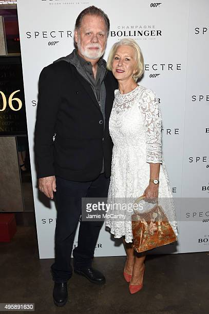 Taylor Hackford and Actress Helen Mirren attend the Spectre prerelease screening hosted by Champagne Bollinger and The Cinema Society at the IFC...