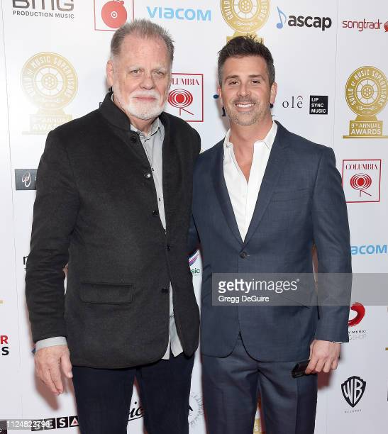 Taylor Hackford and Alex Hackford attend the 9th Annual Guild Of Music Supervisors Awards at The Theatre at Ace Hotel on February 13 2019 in Los...