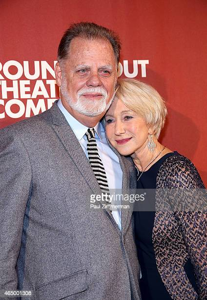 Taylor Hackford and Dame Helen Mirren attend Roundabout Theatre Company's 2015 Spring Gala Honoring Dame Helen Mirren sponsored by FIIJI water at the...