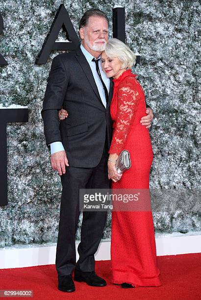 Taylor Hackford and Dame Helen Mirren attend the European Premiere of Collateral Beauty at Vue Leicester Square on December 15 2016 in London England