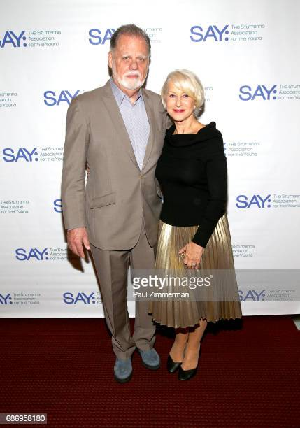 Taylor Hackford and Dame Helen Mirren attend the The Stuttering Association For The Young 15th Anniversary Gala at NYU Skirball Center on May 22 2017...