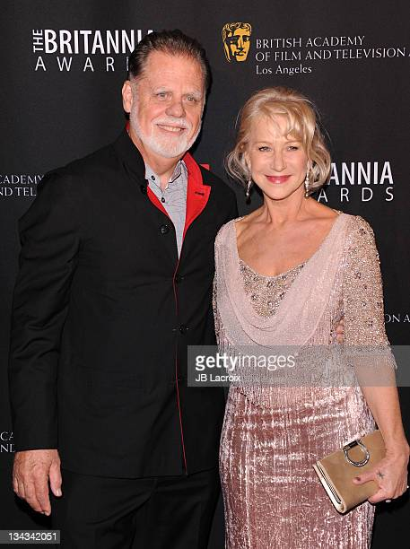 Taylor Hackford and Helen Mirren attend the 2011 BAFTA Britannia Awards at The Beverly Hilton hotel on November 30, 2011 in Beverly Hills, California.