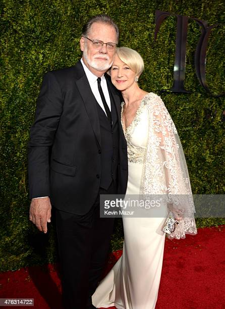 Taylor Hackford and Helen Mirren attend the 2015 Tony Awards at Radio City Music Hall on June 7 2015 in New York City