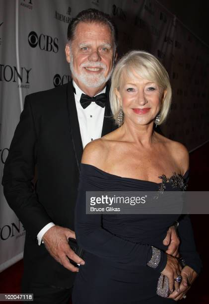 Taylor Hackford and Helen Mirren attend the 64th Annual Tony Awards at Radio City Music Hall on June 13 2010 in New York City