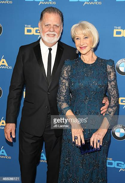 Taylor Hackford and Helen Mirren attend the 66th Annual Directors Guild Of America Awards held at the Hyatt Regency Century Plaza on January 25, 2014...
