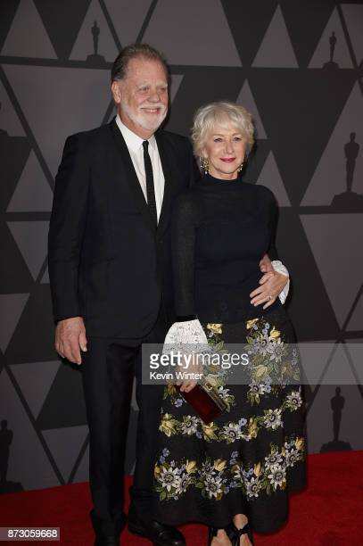 Taylor Hackford and Helen Mirren attend the Academy of Motion Picture Arts and Sciences' 9th Annual Governors Awards at The Ray Dolby Ballroom at...
