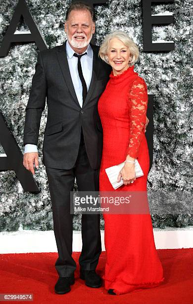 Taylor Hackford and Helen Mirren attend the European Premiere of Collateral Beauty at Vue Leicester Square on December 15 2016 in London England