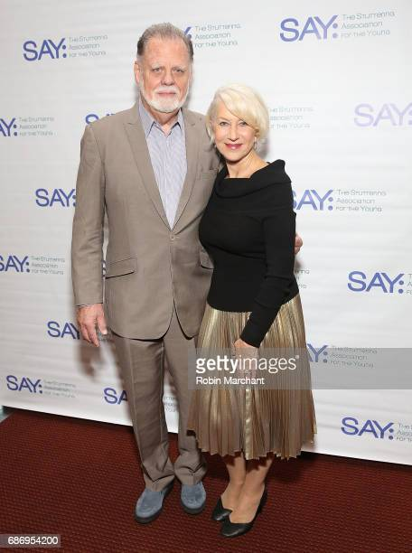 Taylor Hackford and Helen Mirren attend The Stuttering Association For The Young 15th Anniversary Gala at NYU Skirball Center on May 22 2017 in New...