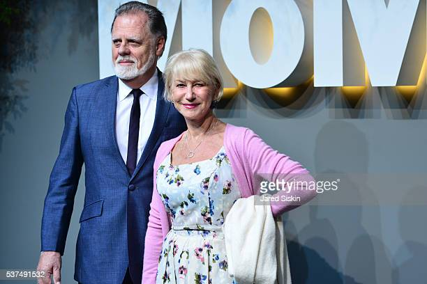 Taylor Hackford and Helen Mirren attends at the Museum of Modern Art on June 1 2016 in New York City